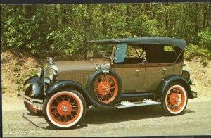Classic Car Postcard 1929 FORD Model A Phaeton