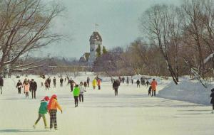 Ice Skating , Assiniboine Park , Winnipeg , Manitoba , Canada , 50-60s