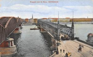Netherlands Rotterdam, Bruggen over de Maas, bridge, ship boats, carriages