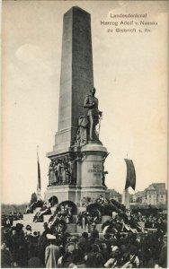 CPA AK Wiesbaden Biebrich Landesdenkmal Herzog Adolf v.Nassau GERMANY (1106046)