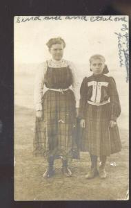 RPPC HALE CENTER TEXAS PRETTY GIRL GIRLS DRESS VINTAGE REAL PHOTO POSTCARD 1909