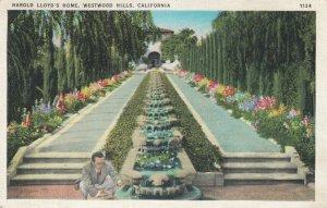 WESTWOOD HILLS , California, 1910-20s ; Harold Lloyd's Home
