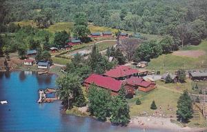 Aerial view,  Hospitality Inn,  South Lake,  Minden,  Ontario,  Canada,  40-60s