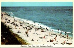 Massachusetts Greetings From Cape Cod National Seashore Beach Scene