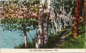 Val Des Bois Quebec Papineau Trees Path SDC Postcard G6