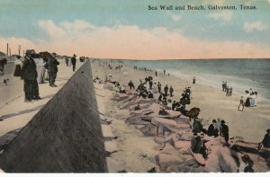 GALVESTON , Texas , 1900-10s ; Sea Wall & Beach