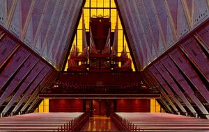 Colorado Colorado Springs U S Air Force Academy Organ In Protestant Chapel