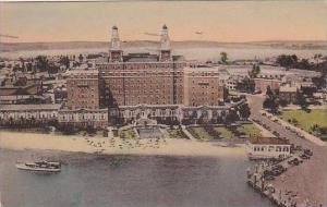 Virginia Old Point Comfort Aerial View Hotel Chamberlin 1947 Albertype