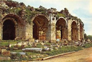 Turkey Cennet Sehir Antalya Side tiyatrosu Girisi Entree du Theatre de Side