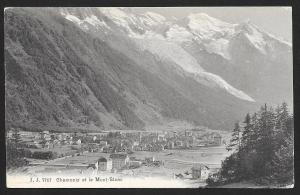 Village at Foot of Mountain Chamonix et le Mont Blanc FRANCE Unused c1910s