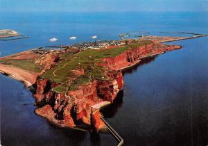 Helgoland Insel Gesamtansicht Island General view Schiff Boats