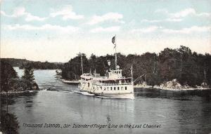 Thousand Islands New York~Lost Channel~Folger Line Steamer Islander~1905 PC