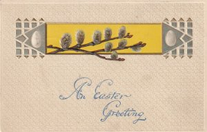 EASTER, PU-1908; Greeting, Eggs, Branches