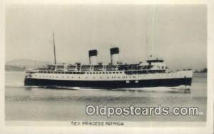 TEV Princess Patricia Steam Ship Postcard Post Cards Unused