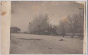 1910 NORTH LOUP Nebraska Nebr RPPC Postcard Street Scene WINTER Homes