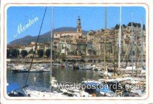 La Cote D'Azur Menton, France, Carte, 1999