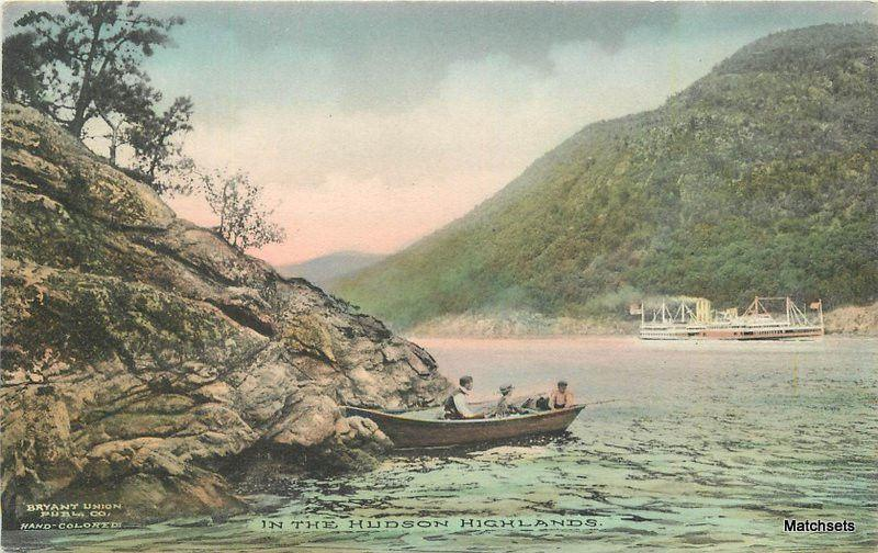 C-1910 NEW YORK Hand Colored Hudson Highlands Bryant Union postcard 7367
