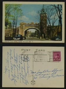 Porte St Louis  Québec  pmk 1946