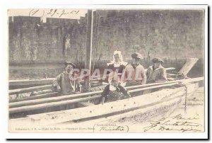 Concarneau Old Postcard (child boat) (tres animee) (précuseur map)