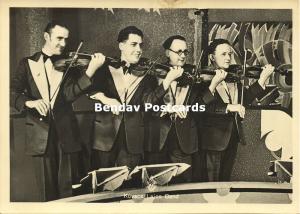 Dutch AVRO Broadcasting Station Kovacs Lajos Band, Music Violists (1930s) RPPC