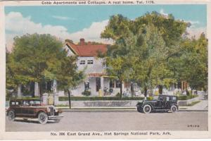 Arkansas Hot Springs Cobb Apartments and Cottages 1934