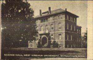 Morgantown WV WV University Science Hall c1910 Postcard