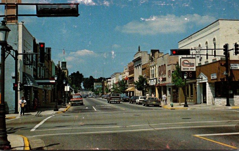 Wisconsin Hartford Downtown Street Scene