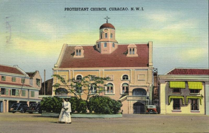 curacao, N.W.I., WILLEMSTAD, Protestant Church (1948) Stamps