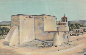 LOS RANCHOS DE TAOS, New Mexico, 30-40s; Old Church