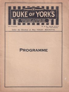 The 13th Chair Duke Of Yorks Theatre 1918 WW1 Programme