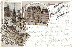 Germany Gruss vom Hotel Victoria Nürnberg 03.29