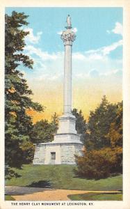Lexington Kentucky~The Henry Clay Monument~1920 Postcard