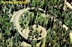 South Dakota Black Hills Aerial View Showing Both Pigtail Bridges and One Of ...