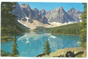 Canadian Rockies, Moraine Lake, unused Postcard