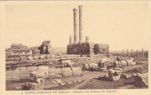Tunisia Ruines Romaines de Timgad Colonnes du Pronaos du Capitole