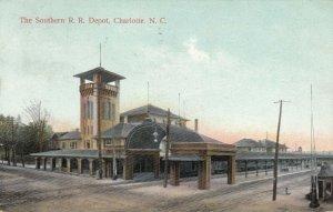 CHARLOTTE , North Carolina, 1908 , Southern Railroad Train Depot