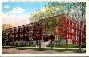 Wisconsin Green Bay Bellin Memorial Hospital and Training School For Nurses 1951