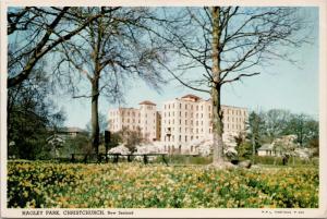 Hagley Park Christchurch New Zealand NZ c1968 Postcard D59