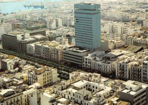 Tunisia General view of the Modern City Africa Building Postcard