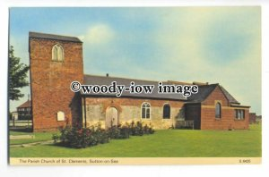 cu2481 - The Parish Church of St. Clements, in Sutton-on-Sea - Postcard