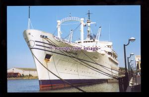 SIM0337 - Mercy Ship-Liner - Anastasis , built 1953 ex Victoria - postcard