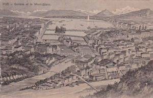 Switzerland Geneve et le Mont-Blanc 1910