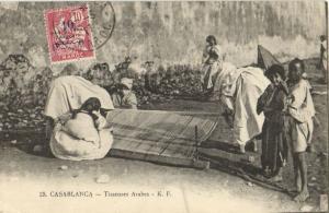 CPA Maroc Casablanca Tisseuses Arabes (23852)