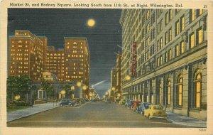 Autos Market Rodney 11th Wilmington Delaware 1942 Postcard Del Mar News 12693