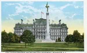 DC - Washington, First Division Monument & War and State Departments