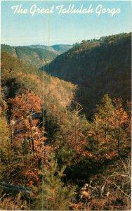 Postcard Tallulah Gorge Northeast Georgia