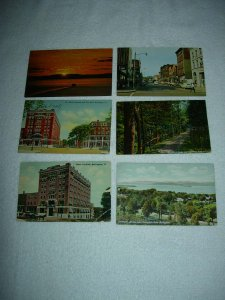 Burlington VT - Lot Of 6 Great Vintage Postcards - x0567