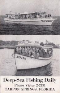 Aspasia Deep Sea Fishing Boat Tarpon Springs Florida