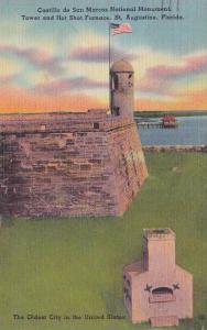Florida Saint Augustine Castillo De San Marcos National Monument Tower And Ho...