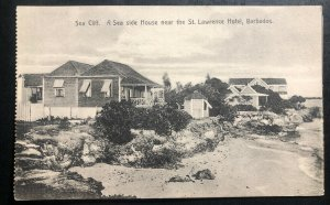 Mint Barbados Real Picture Postcard Sea Side House Near St Lawrence Hotel